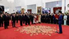 23 Oktober 2019:  Presiden Jokowi lantik anggota Kabinet Indonesia Maju